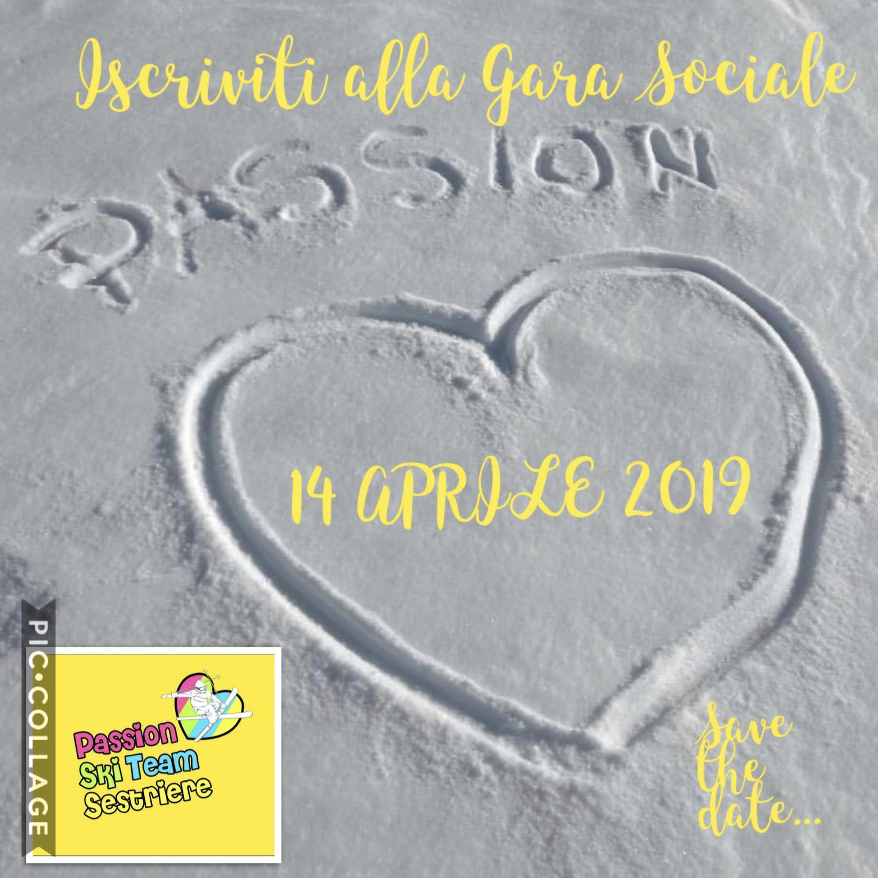 SAVE THE DATE: 14 APRILE 2019 GARA SOCIALE PASSION!