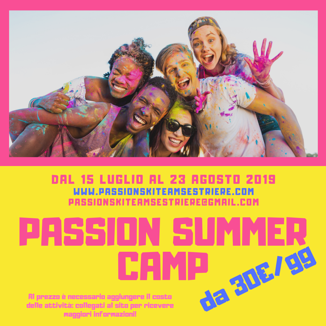 PASSION SUMMER CAMP 2019!