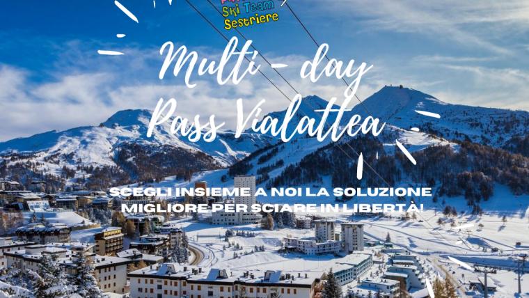 Multi day pass Vialattea SCI CLUB! Ecco le novità!