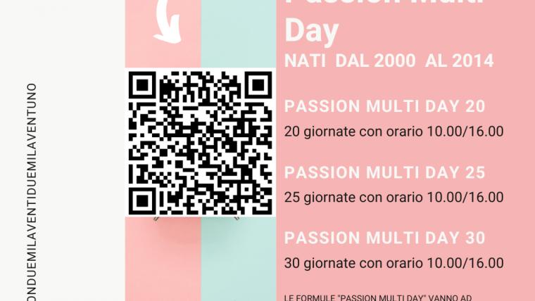 Passion Multi Day: scegli la formula più adatta alle tue esigenze!